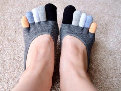 5本指ソックスで脚痩せ