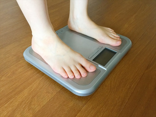 足のむくみと体重